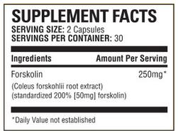ingredientes forskolina - forskolina 250 por Bauer Nutrición Opinión - ¿Es una estafa o de fiar?